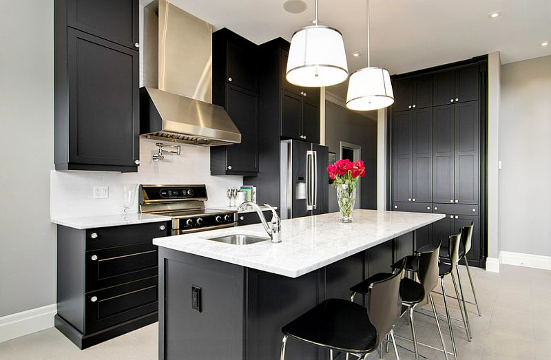 kitchen ideas black and white