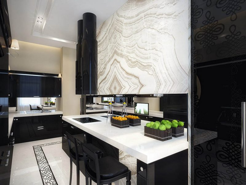 Black And White Kitchen Ideas Chartwell - Black and grey kitchen decor
